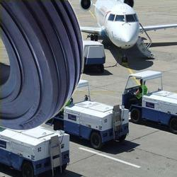 Airport Trolley Solid Press- On Tyres