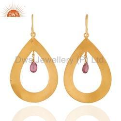 Pink Tourmaline Gemstone Earring