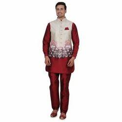 Traditional Kurta Pajama With Jacket