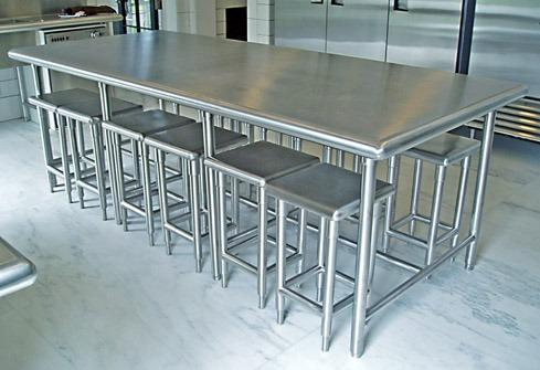 Pharma Furnitures Ss Dining Table Manufacturer From Vasai