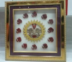Shreeparni Surya With Om frame