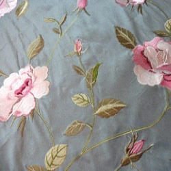 Silk Embroidery Fabric