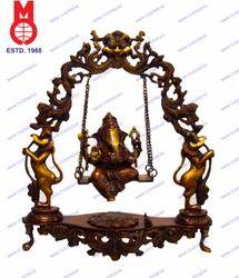 Lord Ganesh Swing On Dragon Ring Statue