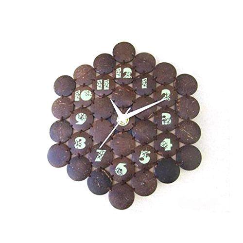 Coconut Shell Wall Clock