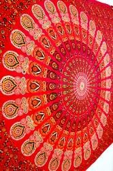Bed Spread Mandala Indian Tapestry Cotton Wall Hanging
