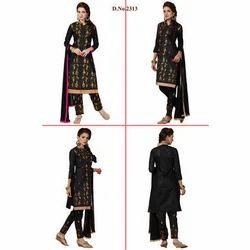 Black Resham Embroidered Suit