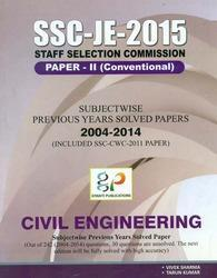 SSC-JE-2015 Civil Engineering Paper-II (Conventional)