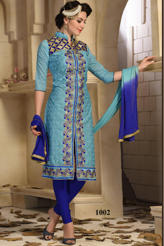 Designer Embroidery Work Long Suit