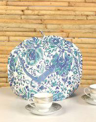 Hand Printed Floral Cotton kitchen appliance Tea Cosy