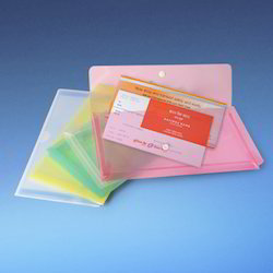 Cheque Book Size Dataking Expandable Clear Bag