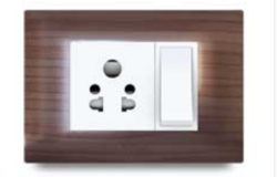 Slim Plate Texture Electrical Switch