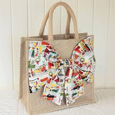 Cotton Christmas Bag with Xmas print
