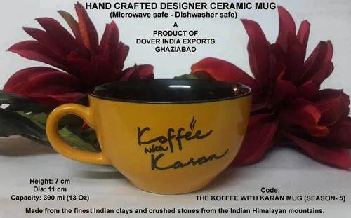 Ceramic Promotional Designer Mugs Koffee With Karan Mug Exporter From Ghaziabad