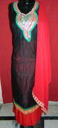 Red And Black Gota Patti Suit