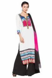 Designer Printed Styling Long Kurti Ladies Salwar Suits
