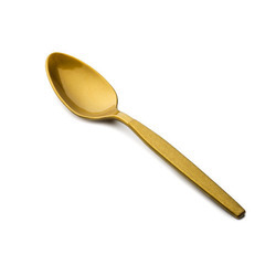 plastic disposable golden spoon