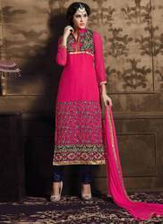 Ladies Embroidered Churidar Suit