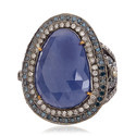 18k Gold Blue Sapphire Wholesale Ring Jewelry