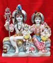 White Marble Shiv Family Statue
