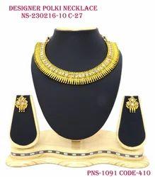 Simple Polki Necklace