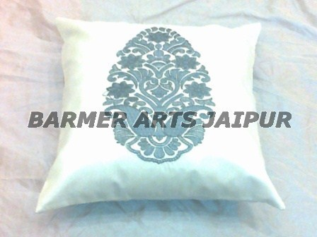 Silk Embroidery Boota Cushion Cover