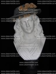 Beautiful Marble Lady Bust (2')