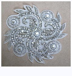 Hand Embroidered Zardosi Diamond Motif (Butta)