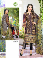 designer cotton with embroidery dress material