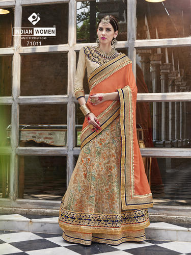 Heavy Embroidered Designer Lehenga Saree
