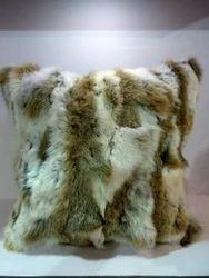 Patchwork Rabbit Fur Cushions Rabbit Fur Pillows