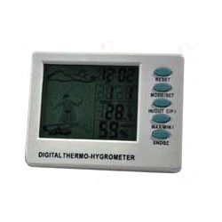 Digital Thermohygrometer with Clock