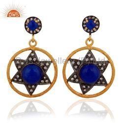 Blue Aventurine Gemstone Earrings