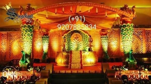 Wedding Stage Decoration Luxury New Hindu Wedding Peacock Stage