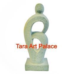 White Marble Stone Abstract Statue