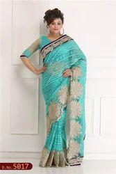 Net Hand Woven Saree