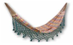 Fabric Hammock with Color Fringes