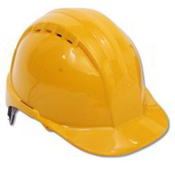 Industrial Safety Helmet with Plastic Cradle