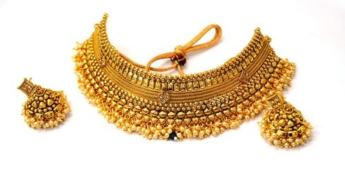 gold kundan necklace designs jewellery heavy necklaces