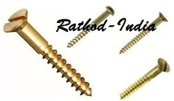 Brass Fasteners and Fixings - Brass Wood Screw
