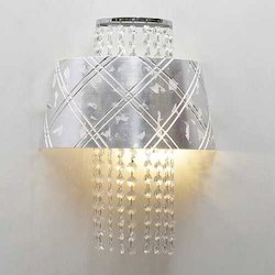 Silver Crystal Bead 2- Way Wall Light