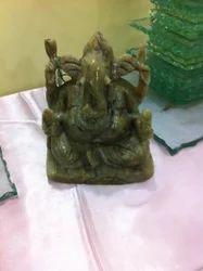 Cat's Eye Ganesha Idol