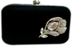 Zari Embroidery Box Clutch Bag