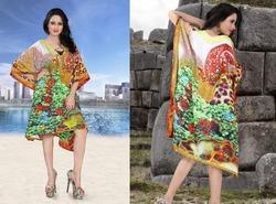 Fancy Digital Printed Short Kaftan