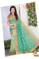 Dazzling Designer Zari Butta Saree
