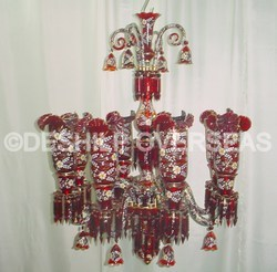 Unique Red Chandelier
