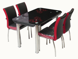 Metal Dining Table Set C-57-2 / Rolex Chair