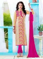 Churidar Suit with Pink Dupatta