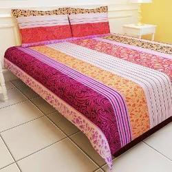 Double Polyester Bedsheet, Bedsheets   Shrishti Reprogren Industries,  Mumbai | ID: 13625126597