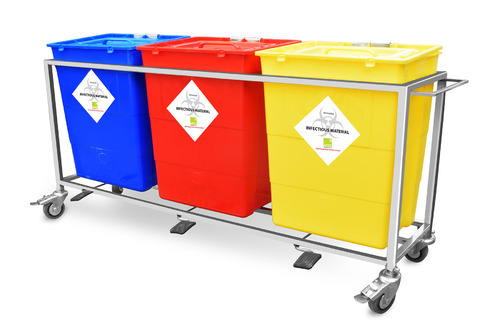 Hospital Waste Segregation Trolley