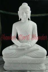 Marble White Buddha Statue